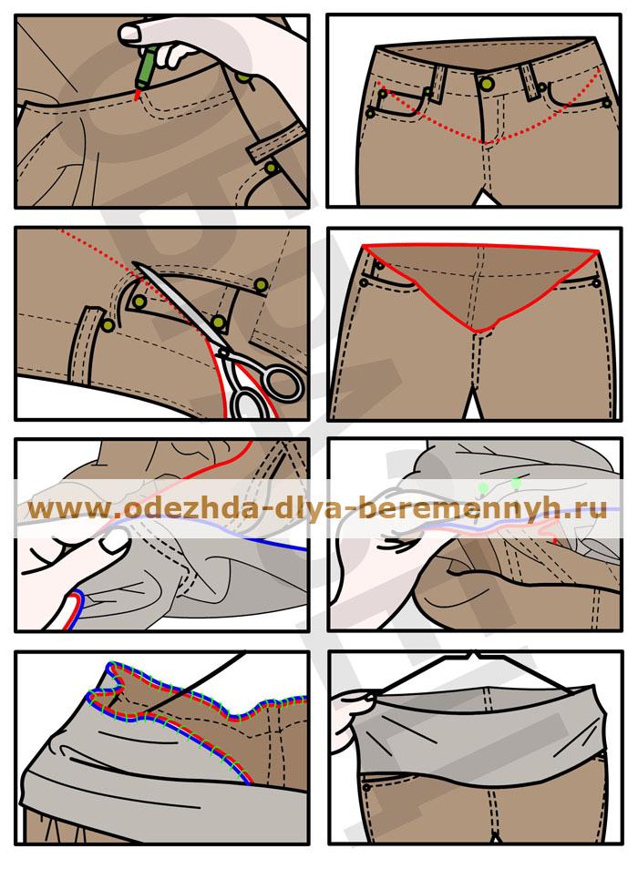 Как сделать брюки для беременных своими руками