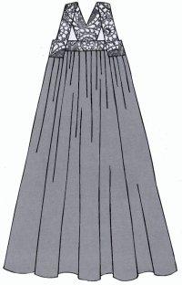Сарафан в традиционном стиле рисунок