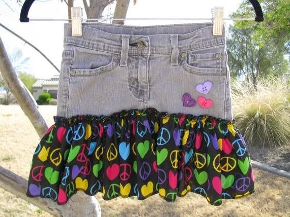 Фото как переделать джинсы в юбочку
