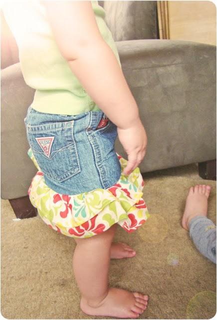 Детская юбка из старых джинс своими руками