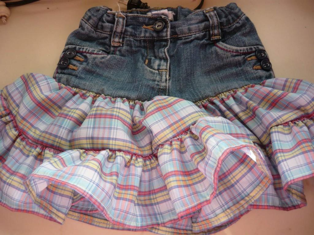 Юбка из старых джинс: 5 масетер-классов + идеи - смотреть видео (видео)