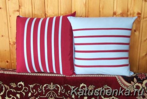 Как сшить наволочку декоративную на подушку своими руками