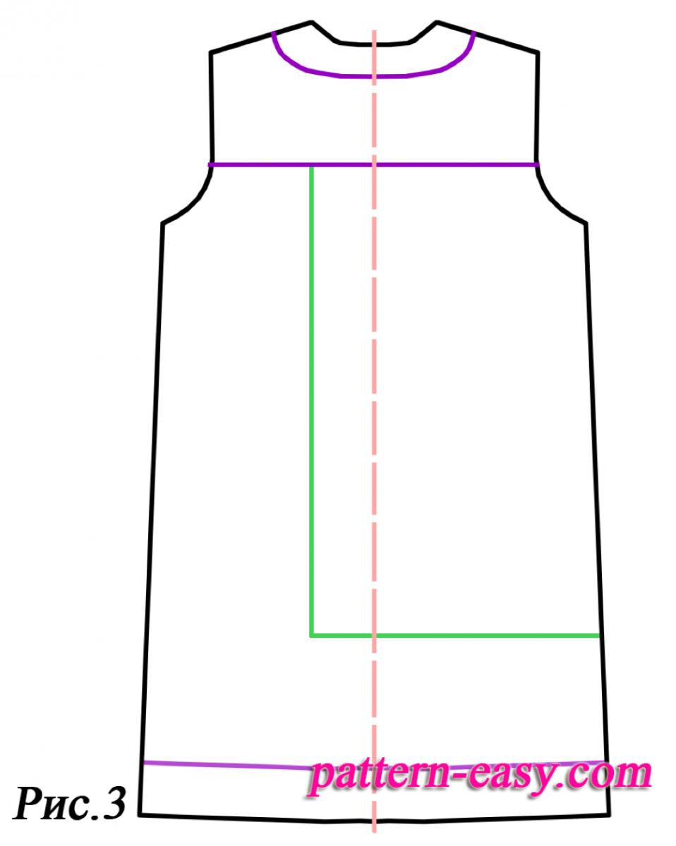 Платье прямого кроя для полных своими руками