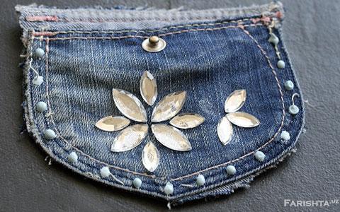 можете сделать кошелок из джинсов
