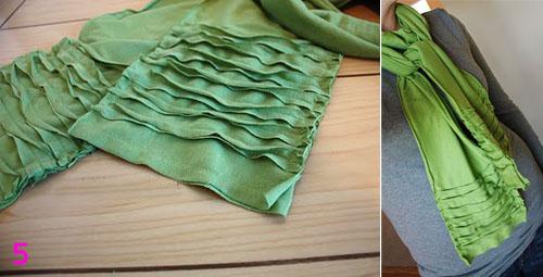 Как сшить шарф из трикотажа