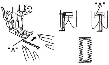 Как швейной машинкой сделать петлю