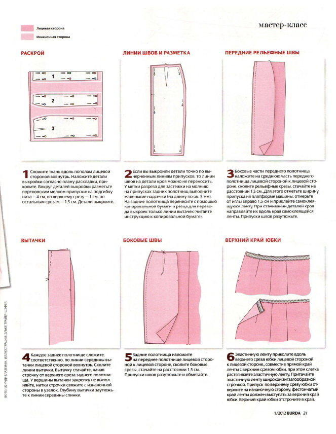 Как сшить прямую юбку своими руками пошагово фото