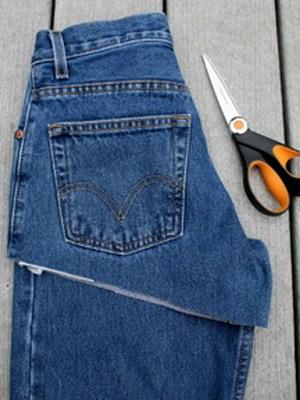 С джинсов сделать шорты в домашних условиях