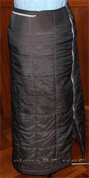 Как сшить длинную зимнюю юбку