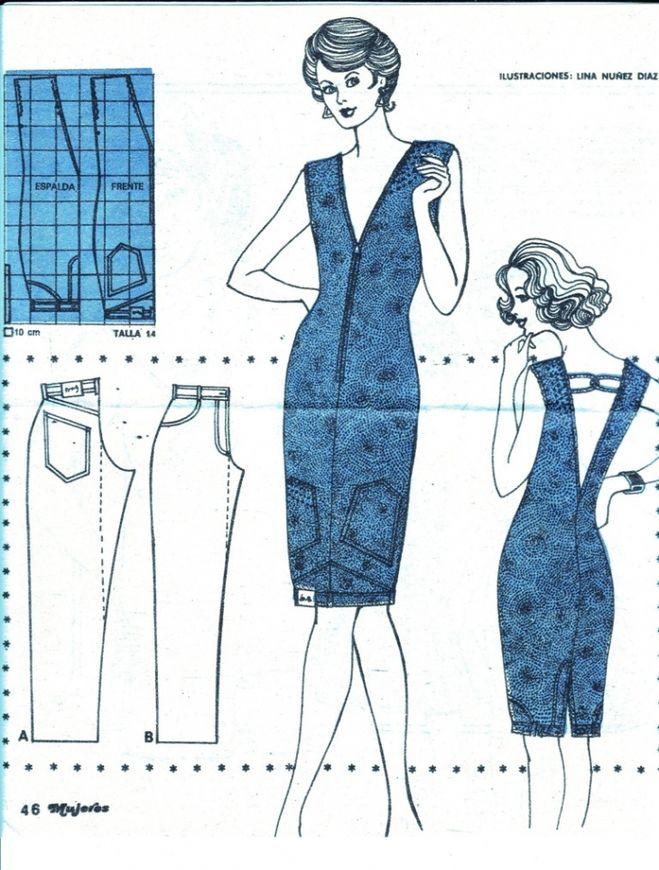 Как сшить платье из брюк