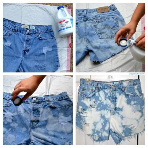 Если отбелить джинсы в домашних условиях 395