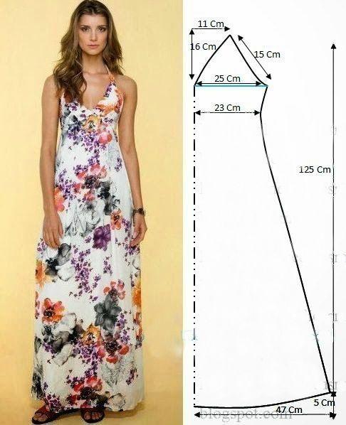 Шью сама длинное платье