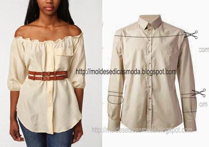 Блуза  из рубашки