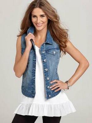 Как сделать джинсовую жилетку своими руками из джинс