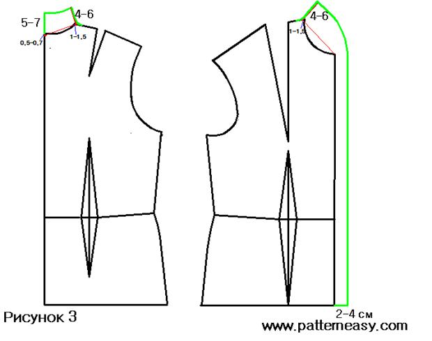 Как сшить блузку с отложным воротником 34