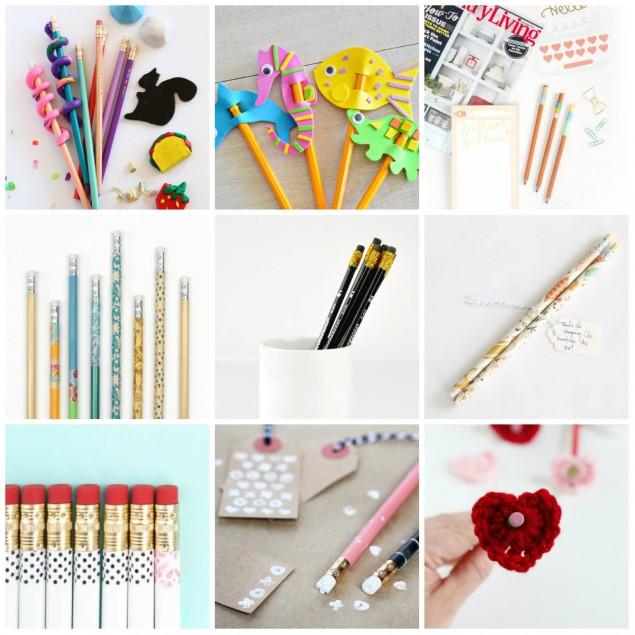 Украшаем ручки и карандаши своими руками 43