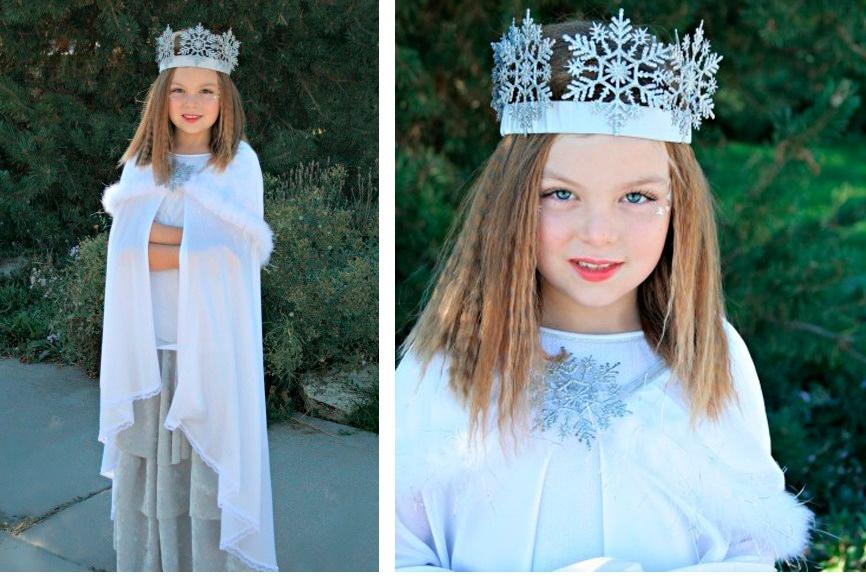 Костюм снежная королева своими руками фото