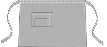 Примерная выкройка короткого фартука для <strong>фартуки для шитья выкройки</strong> официанта