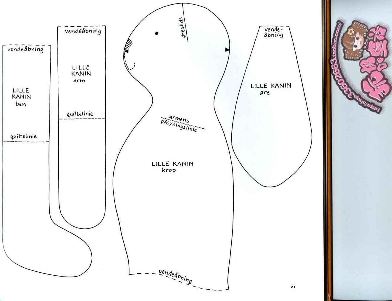Игрушки своими руками из ткани схемы тильда 11