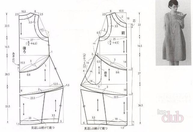 выкройка платья размер 50 из льна 2017