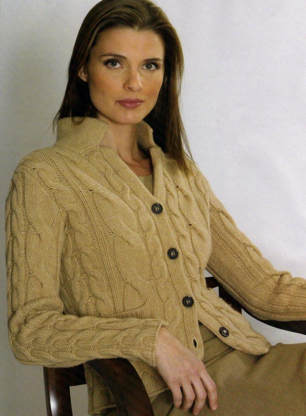 Вязанные кофты для женщин