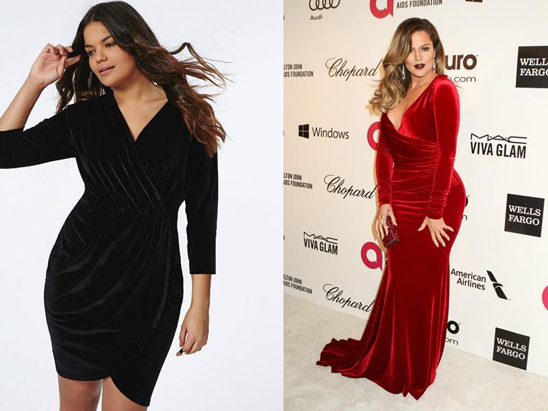 Бархатные платья для полных девушек