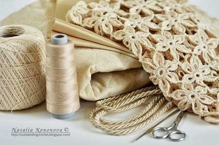материалы которые понадобятся при создании льняной сумки