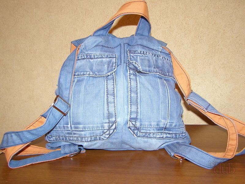 Рюкзак из старых джинсов своими руками фото выкройки