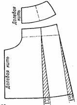 Построение выкройки юбки-шорты