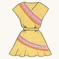 Детское платье с цельнокроеным рукавом