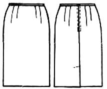 картинки юбки прямой узкой формы