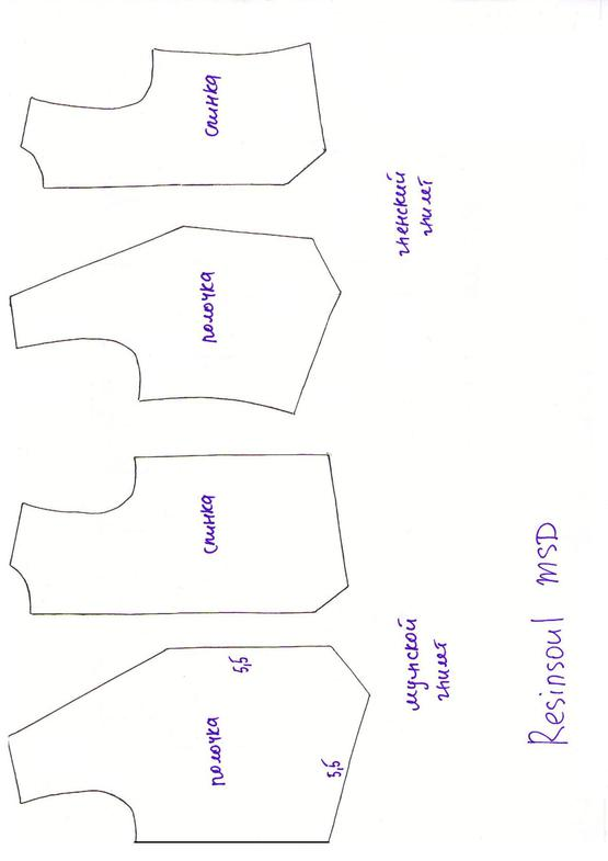 В комплект выкроек куртки косухи входят лекала, показанные Узнай