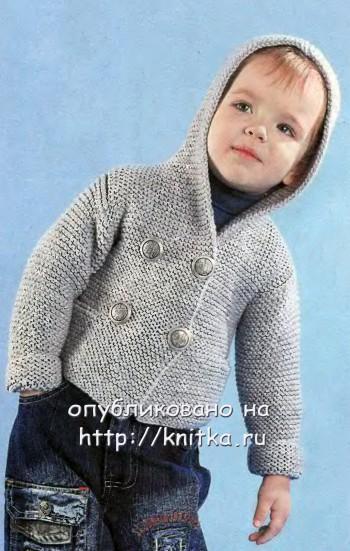 Описание: Выкройка вязаной спицами курточки для мальчика. вязание
