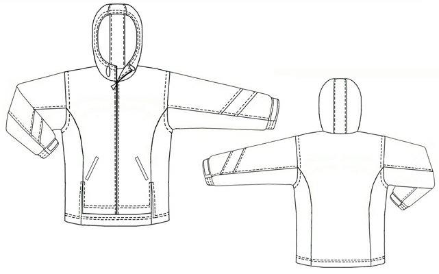 Помогите пожалуйста построить выкройку куртки-ветровки для мальчика 1