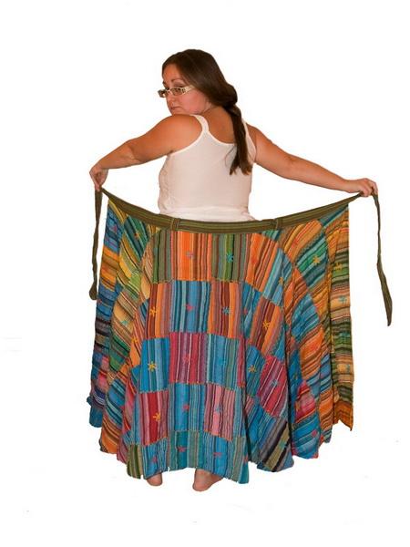 Сшить пляжную юбку с запахом