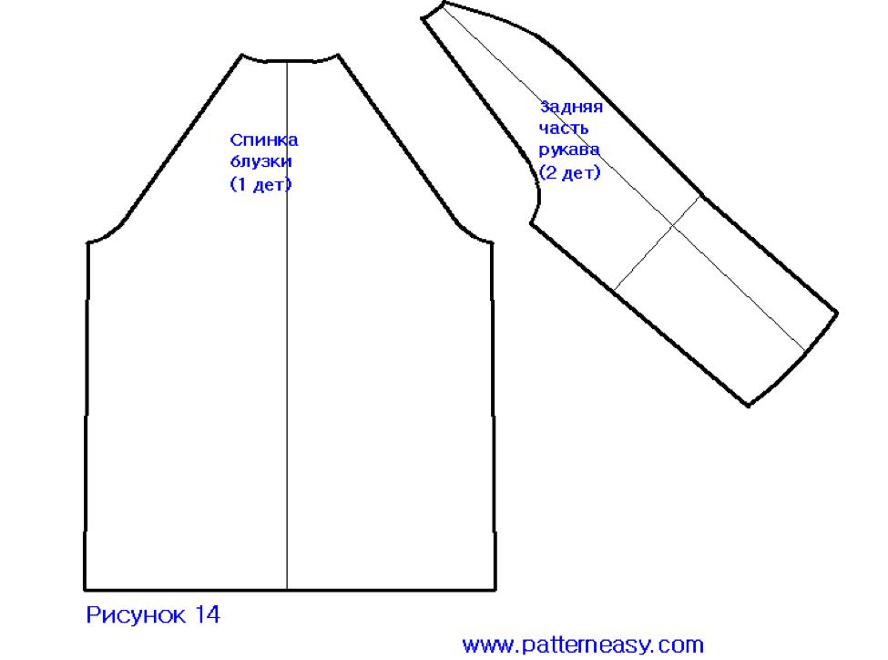 Выкройка блузки с рукавом видео