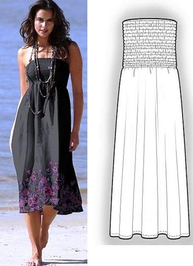 Платье-сарафан своими руками фото