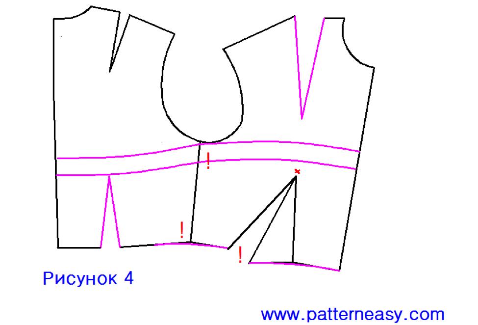 Выкройки верхней части платья
