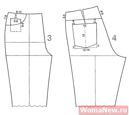 Как сделать выкройку для джинсовых брюк
