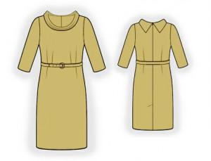 как построить основу выкройки женского платья