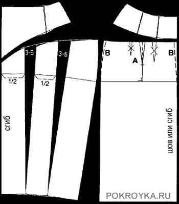 Пошаговая выкройка юбки тюльпан