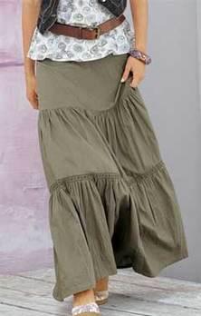 Блоги@Mail.Ru: Шьем юбку в пол из трех оборок Выкройка юбки в пол Моделирование выкройки юбк