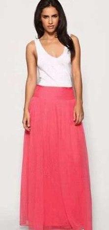 Ты можешь сшить шикарную длинную юбку на кокетке Шикарная длинная юбка из шифона кораллового цве