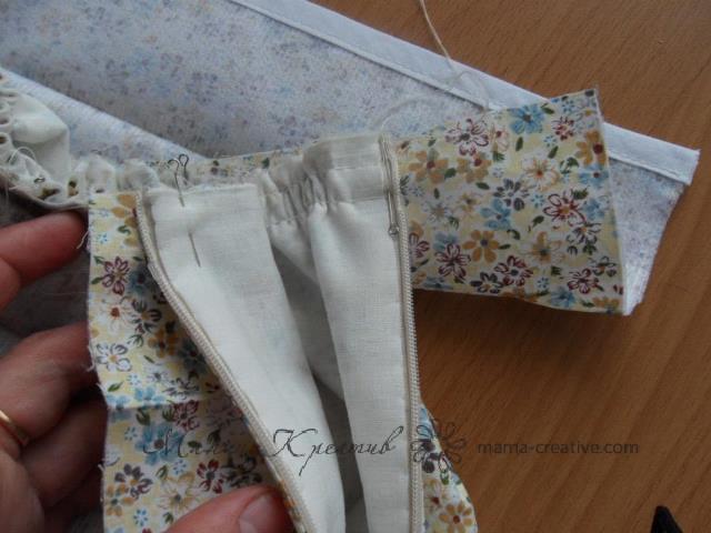 Как сделать сборку на юбке