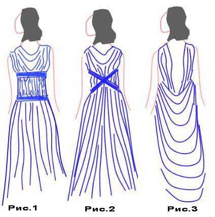 Греческое платье сделать