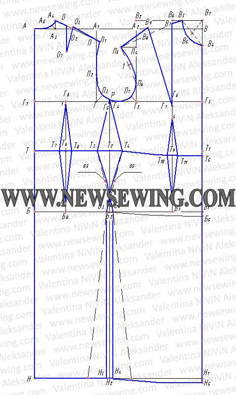 Выкройка основы платья пошаговая инструкция построения выкройки