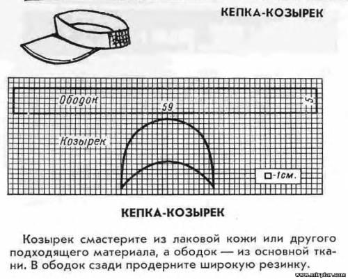Как сделать прямой козырёк на кепке 492