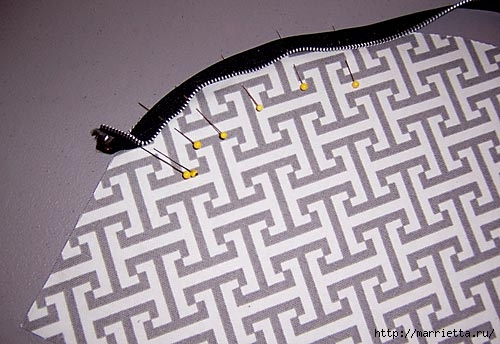 Как сшить стильную сумку с цветами из молний. Мастер-класс (6) (500x344, 121Kb)
