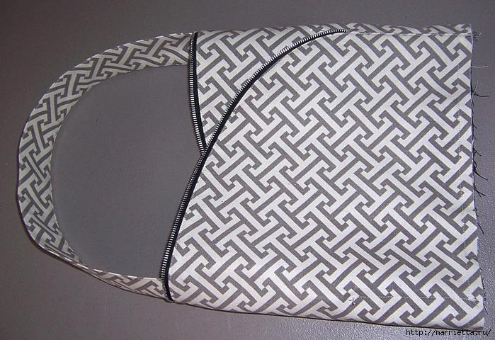 Как сшить стильную сумку с цветами из молний. Мастер-класс (18) (700x480, 323Kb)