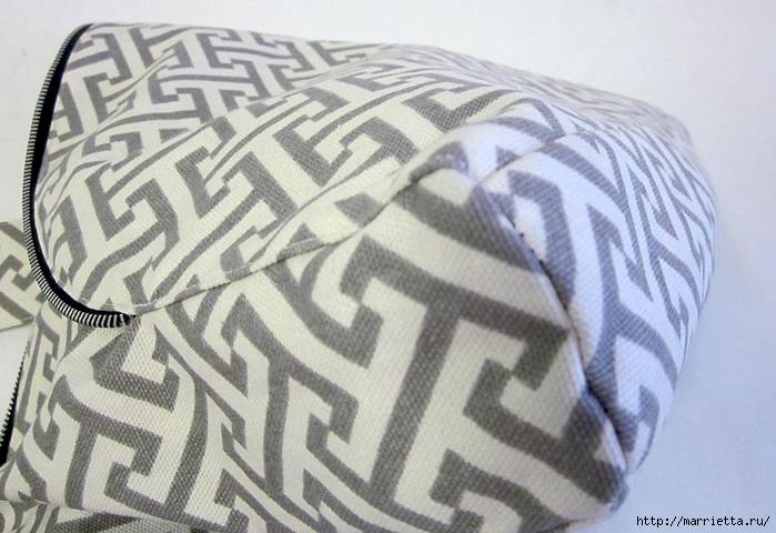 Как сшить стильную сумку с цветами из молний. Мастер-класс (20) (700x480, 242Kb)